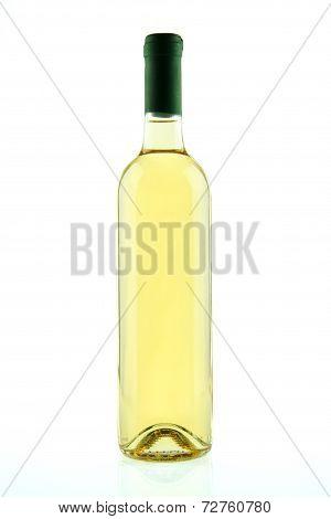 Bottle Of White Wine Isolated