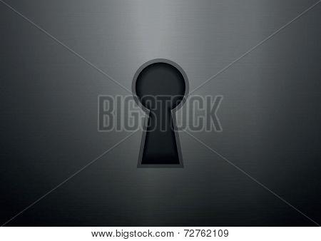 Keyhole On Metal Texture Background
