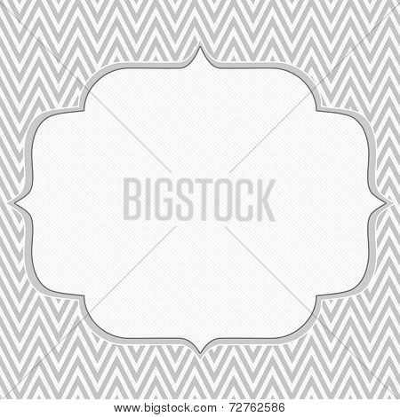 Gray And White Chevron Zigzag Frame Background