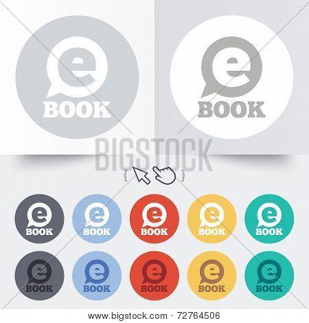 E-Book sign icon. Electronic book symbol.