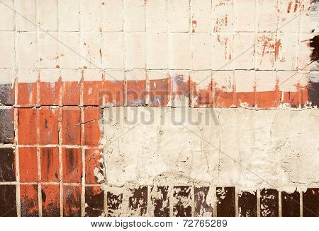 Texture Of Old Painted Tiles