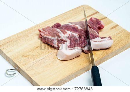 Fresh Pork Meat On A Cutting Board