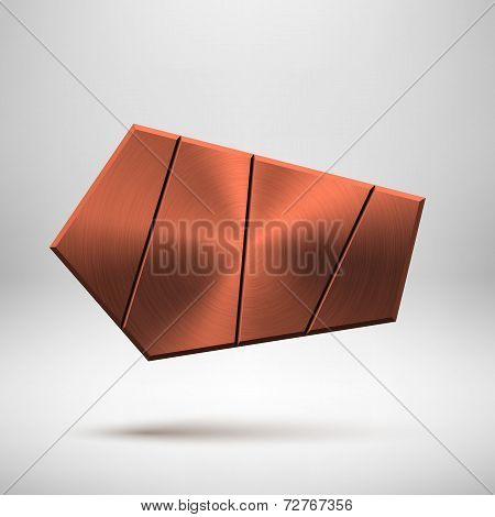 Bronze Abstract Geometric Button Template