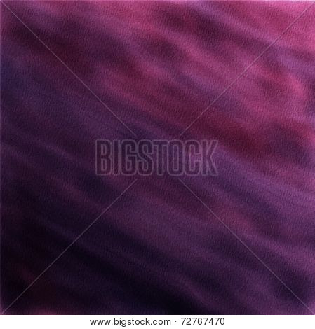 abstract watercolor background. Dark violet watercolor on wet paper.