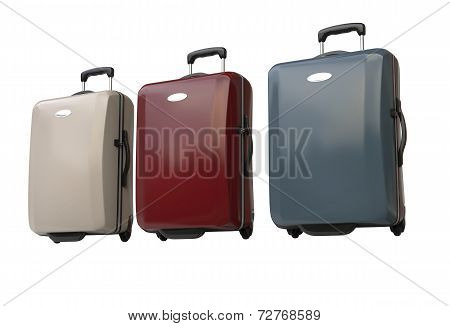 Polycarbonate suitcases