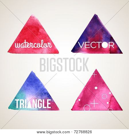 Abstract hand drawn watercolor background, vector illustration.