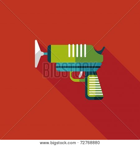 Toy Gun Flat Icon With Long Shadow,eps10