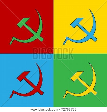 Pop Art Communist Symbol