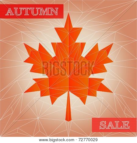 Vector autumn polygonal sale poster