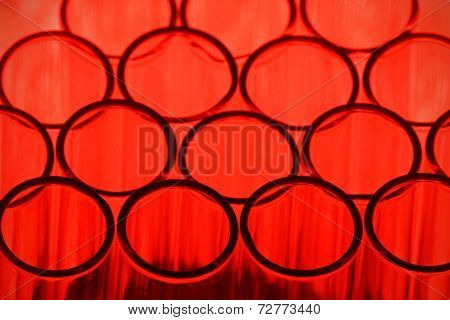 Red Test Tube Background