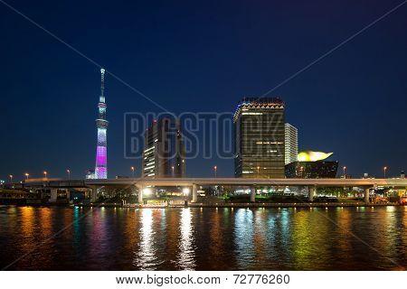 Tokyo Skytree At Dusk