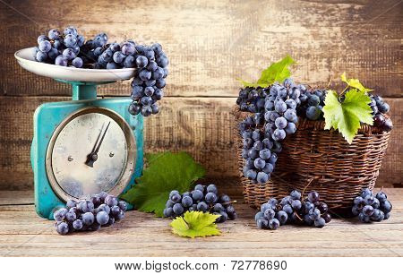 Fresh Grape On Old Scale