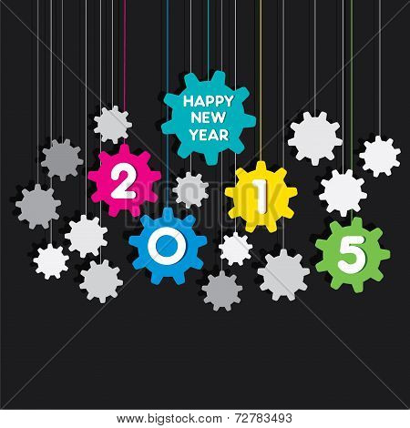 happy new year 2015 gear background