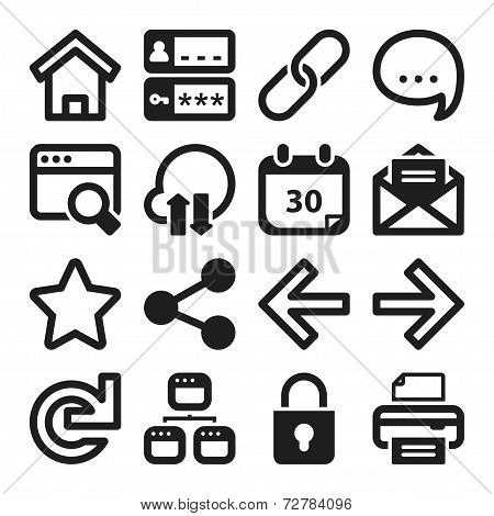 Web Flat Icons. Black