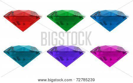 Diamond jewel high resolution 3D image