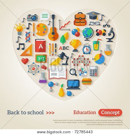 Education concept. Vector illustration. Back to school.