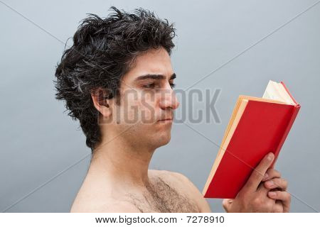 Young Man Studying For Exams