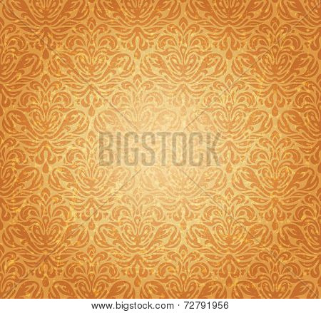 Retro ocher vintage renaissance background design