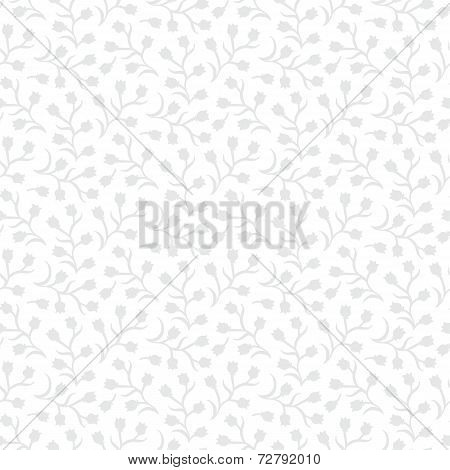 White floral texture with small ditsy flowers