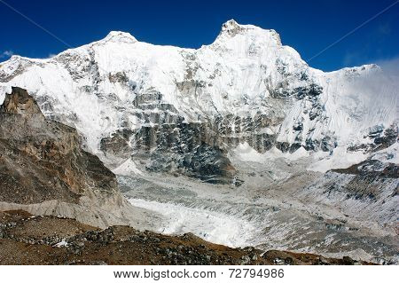 Hungchhi Peak And Chumbu Peak Above Ngozumba Glacier