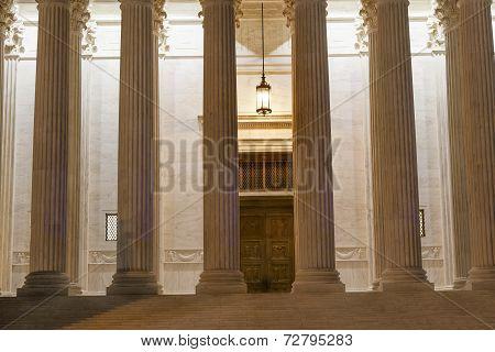Us Supreme Court Columns Door Washington Dc