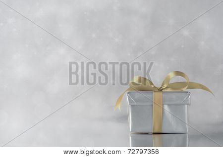 Silver Gift - Gold Ribbon
