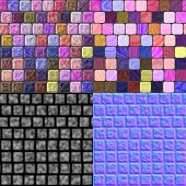 picture of diffusion  - Glass tiles seamless generated texture  - JPG
