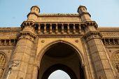 image of british bombay  - The Gateway of India monument in downtown Mumbai  - JPG