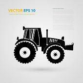 foto of skid-steer  - Vector isolated tractor icons - JPG