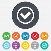 stock photo of confirmation  - Check mark sign icon - JPG