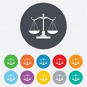 picture of scales justice  - Scales of Justice sign icon - JPG