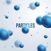 foto of neutrons  - Vector illustration - JPG