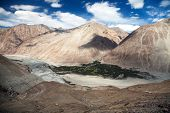 stock photo of jammu kashmir  - View of Nubra valley and Karakoram  - JPG