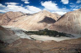 picture of karakoram  - View of Nubra valley and Karakoram  - JPG