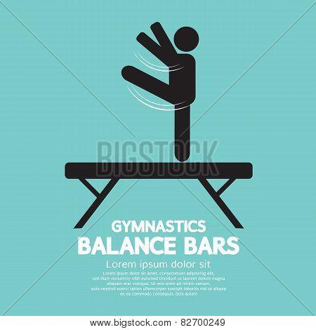 Balance Bars Gymnastics.