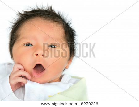 Surprised Newborn Baby
