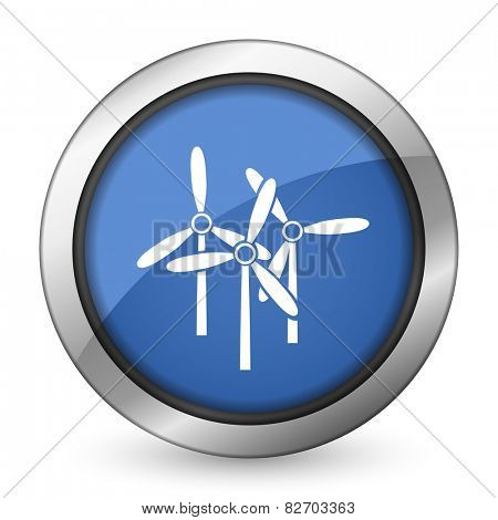windmill icon renewable energy sign