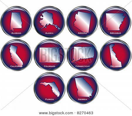 Conjunto de 10 botones de estado Set 1