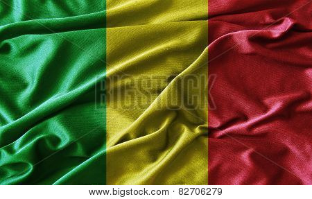 Red, yellow, green rasta flag ,vintage style