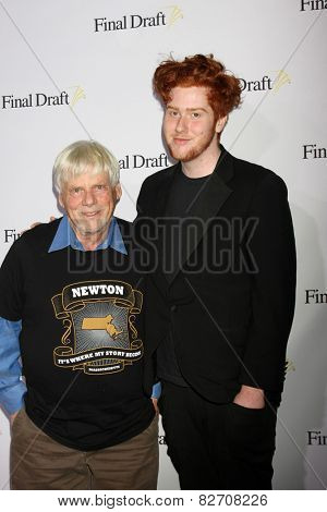 LOS ANGELES - FEB 12:  Robert Morse, Charles Morse at the 10th annual Final Draft Awards at a Paramount Theater on February 12, 2015 in Los Angeles, CA