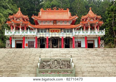 The Gond De Temple In The Hills Of Taiwan