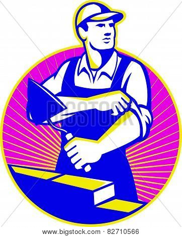 Mason Masonry Construction Worker Trowel