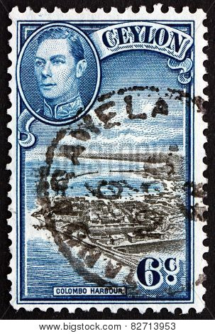 Postage Stamp Sri Lanka 1946 View Of Colombo Harbour