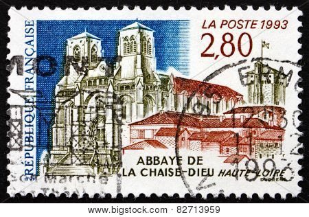 Postage Stamp France 1993 View Of Chaise-dieu Abbey