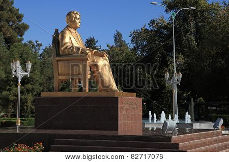 Ashgabat, Turkmenistan - October 23, 2014. Monument To The First President Of Turkmenistan Saparmura