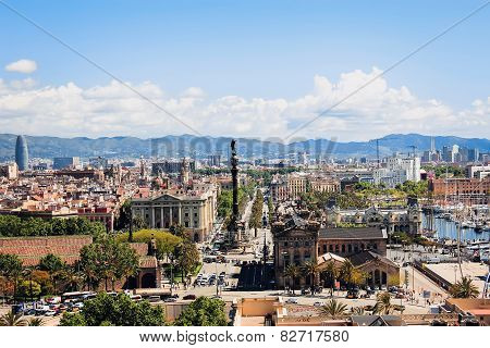 The View Of Barcelona From The Top