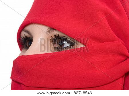 woman with veil