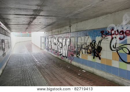 Undercrossing With Graffiti