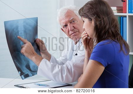 Doctor Watching X-ray Photo
