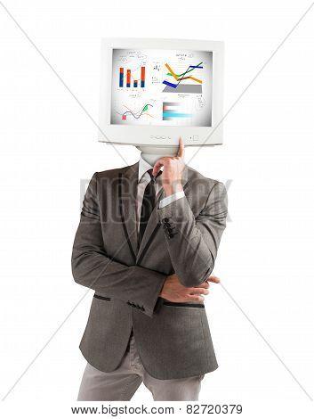 Businessman as computer